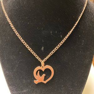 """Rose Gold Peace Dove 16"""" Necklace"""